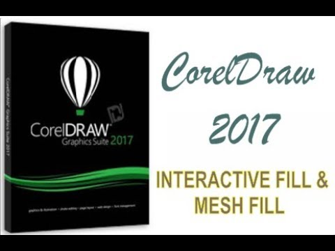 COREL DRAW 2017 USING INTERACTIVE FILL & MESH FILL TOOLS HINDI URDU PART 39