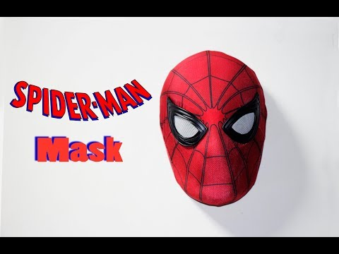 How to cut holes in a Spider-Man mask w a Face-Shell