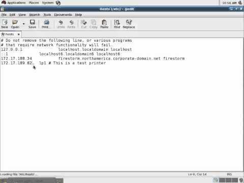 Change printer IP address using the Linux GUI