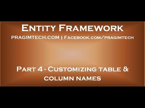 Part 4   Customizing table, column and foreign key column names when using entity framework code fir