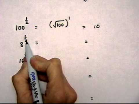 evaluate expressions with rational exponents - (cr).mov