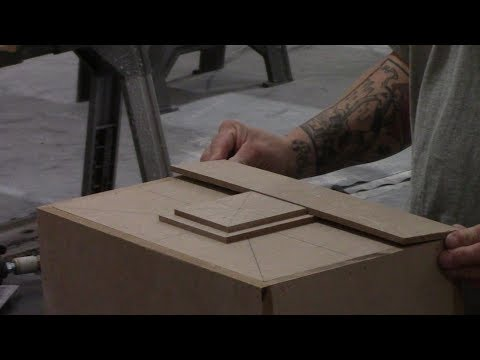 Creating a Custom Concrete Sink Mold out of MDF - GFRC - Glass Fiber Reinforced Concrete