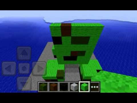 Minecraft PE - Building a huge Creeper Creative