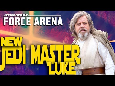 NEW Master Jedi Luke Skywalker Ahch-To and R2D2! Star Wars Force Arena