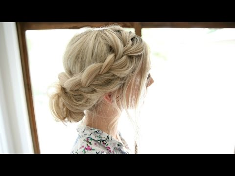 Soft Lace Braid - Easy Romantic Updo