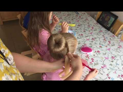 Easy braided bun tutorial by Two Little Girls Hairstyles