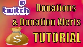 How To Set Up Twitch Donations Donation Alerts Using Obs Streamlabs T