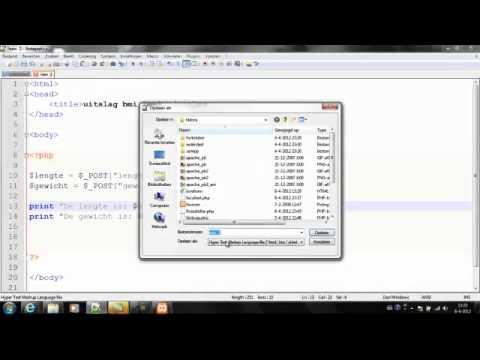 PHP - les 7 - BMI calculator met een HTML formulier