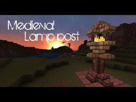 Minecraft   Medieval lamp post tutorial