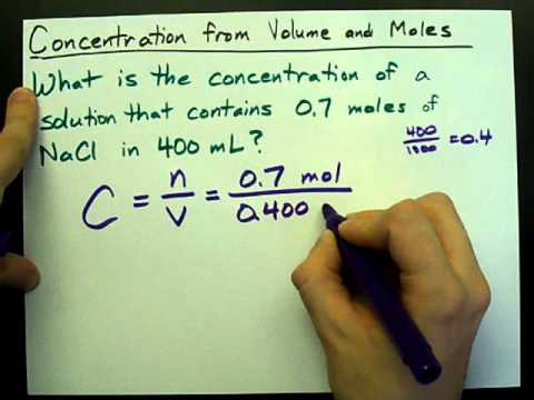 How to Calculate Concentration (from Volume and Moles)