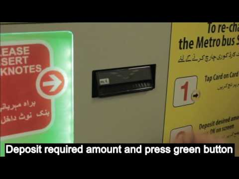 How to Recharge Metrobus Card from TVM