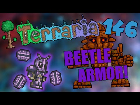 Let's Play Terraria iOS/Android - Crafting the Beetle Armor! - 146