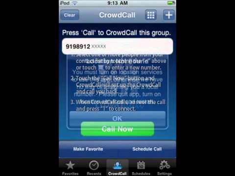 Free Call App for iPod Touch, iPhone, iPad : CrowdCall tutorial