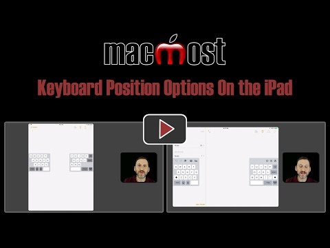 Keyboard Position Options On the iPad (#1657)