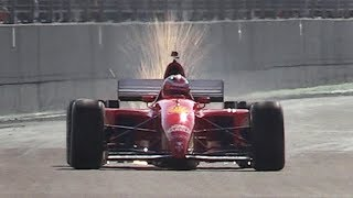 1995 Ferrari 412 T2 F1 V12 Screaming on Track - Warm Up, Accelerations & Fly Bys