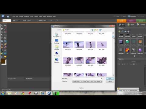 Opening Up JPEG Images in ACR Photoshop Elements