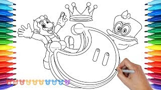 Speed Drawing Super Mario Odyssey Mario With Cappy Drawing