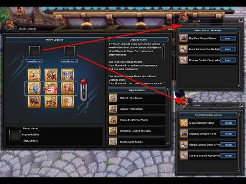 Aura Kingdom Upgrade Mounts (2 Orange Mounts to Yellow Mount)