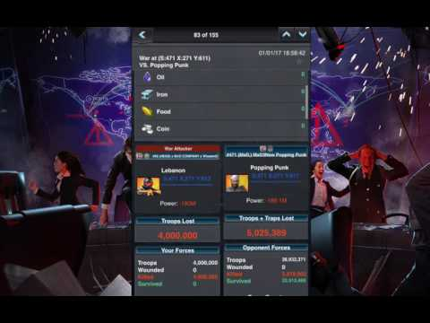 Mobile Strike SvS 1-1-17 BATTLE REPORTS WE WON!!!