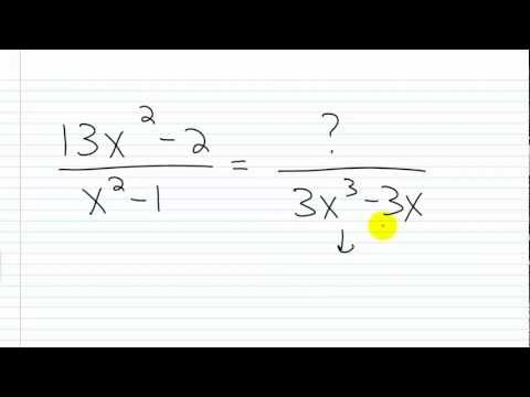 Algebra I Help: Writing Rational Expressions with Given Denominators