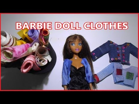 HOW TO MAKE: BARBIE DOLL CLOTHES QUICK AND EASY!