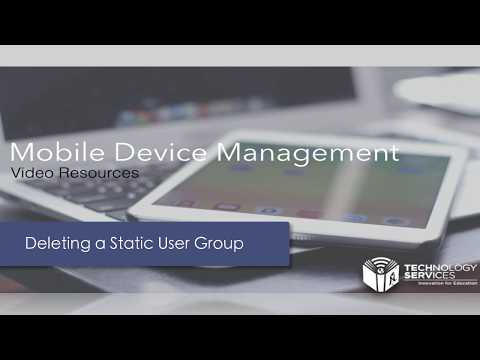 Deleting a Static User Group