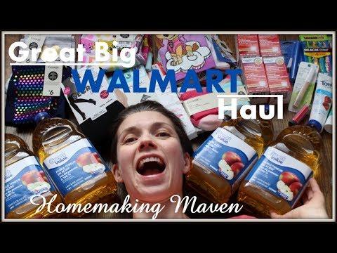 Monthly WALMART Haul | Family of 6 | Homemaking Maven