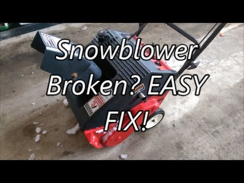 Single Stage Snowblower Auger Not Spinning? Easy Fix!