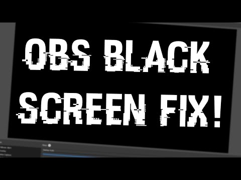 Tutorial: How To Fix BLACK SCREEN GLITCH On OBS Studio 2018! Potential Fixes For OBS Black Screen
