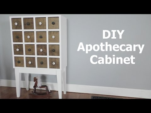 Making an Apothecary Cabinet