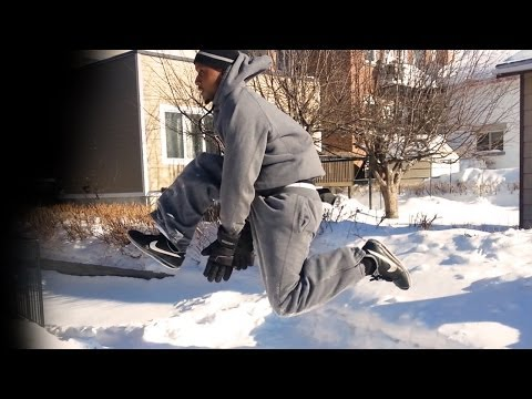 #31 - Winter Workout Calisthenics Motivation in -20 Degrees! 2014 (HD)