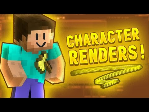 [TUTORIAL] How to Make Minecraft Character Renders - Cinema 4D - Thumbnails, Banners, Wallpapers