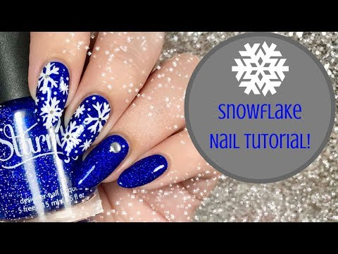 ❄️  Snowflake Nail Tutorial | Day 4 of my 12 days of Christmas! ❄️