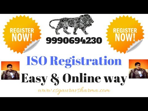 How to take ISO Registration in India