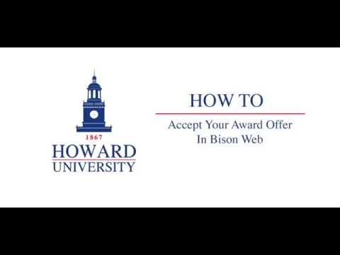 Howard University Accepting Your Award Package