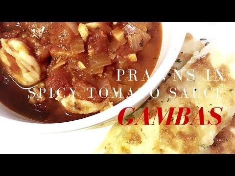 How to cook GAMBAS (Prawns in Spicy Tomato Sauce )