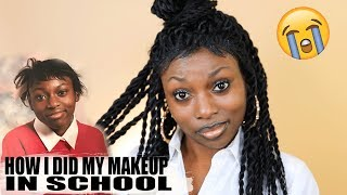 HOW I DID MY MAKEUP IN HIGH SCHOOL! WTF! THE GLOW UP WAS REAL