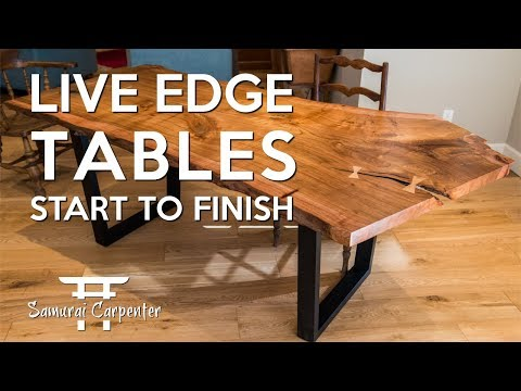 Building Live Edge Tables! Start To Finish