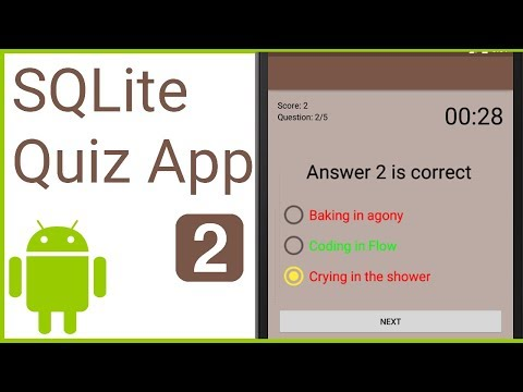 Multiple Choice Quiz App with SQLite Integration Part 2 - MODEL AND CONTRACT CLASS -Android Tutorial