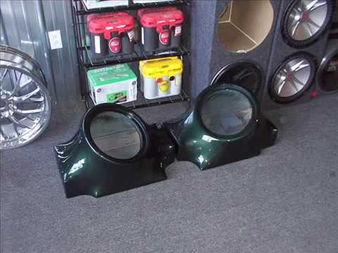 Custom Fiberglass Subwoofer Box And Trunk In A 67 Mustang Fastback