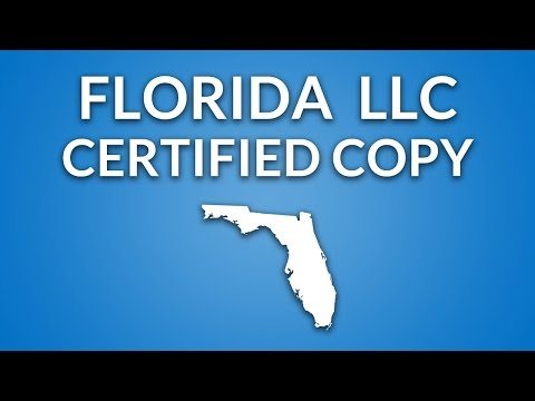 Florida LLC - Certified Copy (of Articles of Organization)