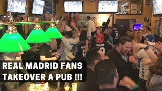 Real Madrid vs PSG (1st leg) | Real Madrid fans take over a Pub (Live reaction) | VLOG 1 | Sumedh
