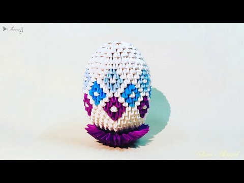 How to make 3d origami Easter egg 6