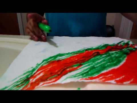 Tie-dye paper towels☺☺☺
