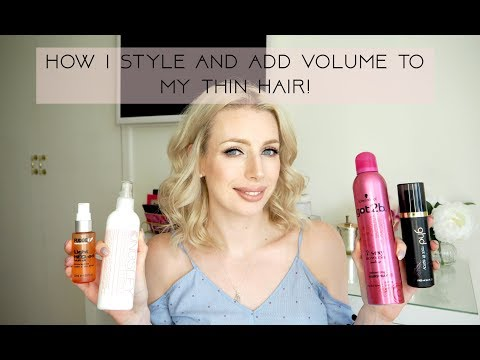 HOW I STYLE/ CURL MY THIN & FINE HAIR