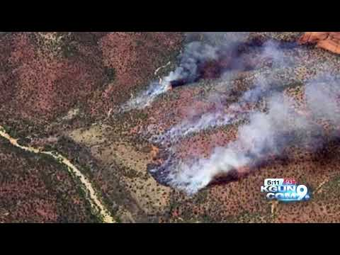 Sycamore Fire: Wildfire has burned 40 acres northwest of Sedona