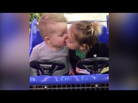 Original Video: Cute Babies' First Kiss