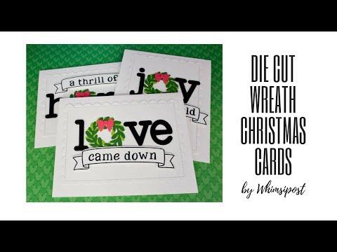 How to Make Die Cut Wreath Christmas Card Set