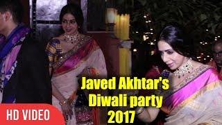 Sri Devi At Javed Akhtar And Shabana Azmi Diwali Party 2017