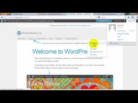 Add Custom Domain On Wordpress.com Blog Tutorial By Sathya